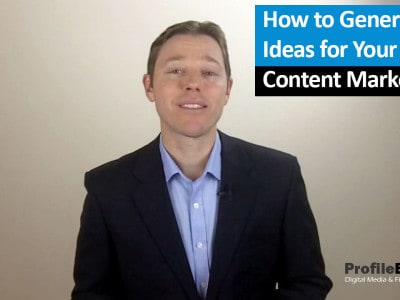 Content Marketing Ideas – Number 1 Way to Generate Ideas for New Content