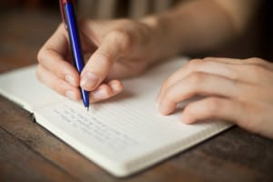 content hand writing