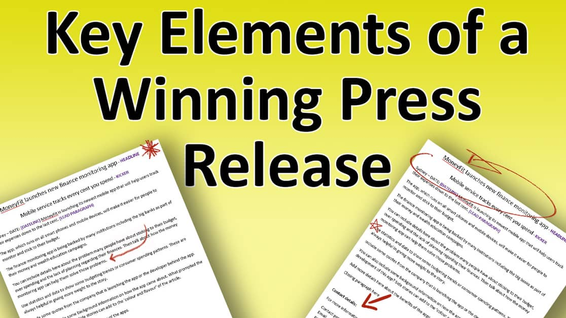 press announcement template