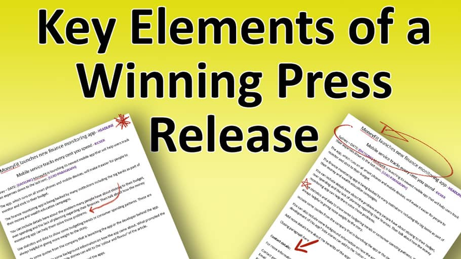 writing press releases template
