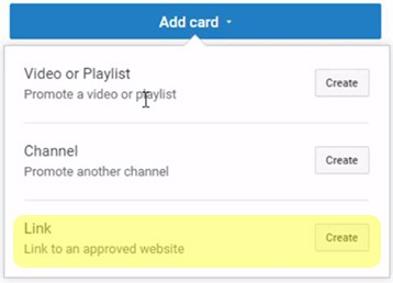 youtube cards example