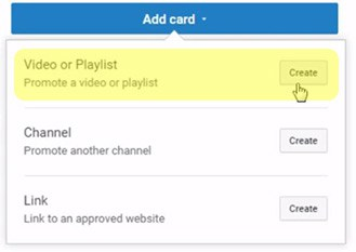 youtube cards video link