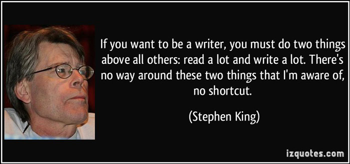 how often to write blog stephen king